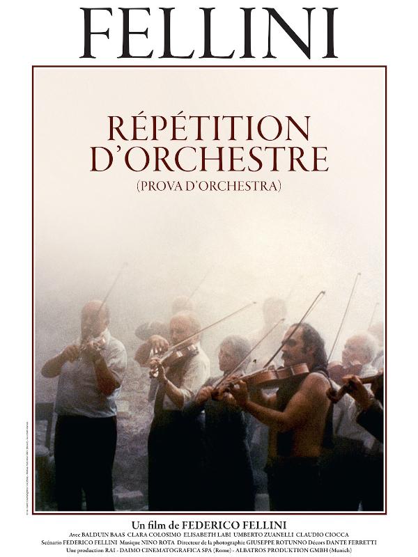 Répétition d'orchestre   Fellini, Federico (Réalisateur)