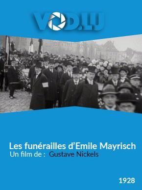Les funérailles d'Emile Mayrisch