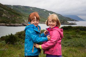 Casper en Emma de bergen in
