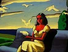 The young Girl and the Clouds